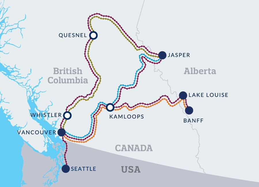 rocky mountaineer map